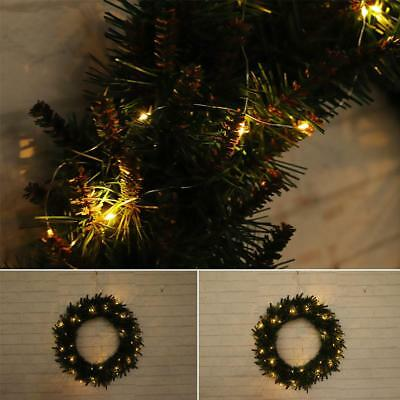 Christmas Wreath Xmas Party Door Wall Hanging Garland Ornament 30/40/50/60cm