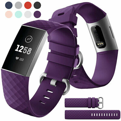 For Fitbit Charge 3 Sports Replacement Silicone Soft Watch Band Wristband Strap