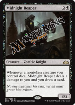 4x Midnight Reaper Guilds of Ravnica GRN MtG MasteringtheGame