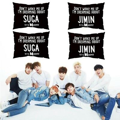 KPOP BTS Pillow Case DONT WAKE ME UP Rectangle Cushion Cover Home Decor UK