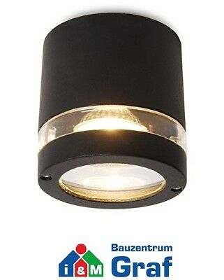 Lutec Ceiling Light Focus Anthracite, for Exterior, without Bulb, IP44 #844209