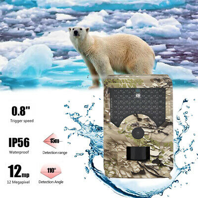 12MP HD 1080P Hunting Trail Camera Video Wildlife Scouting Infrared Night Vision
