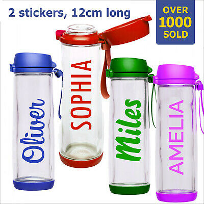 Personalized Water Bottle Name Stickers Labels Gym Bike Drink Lunch Box School