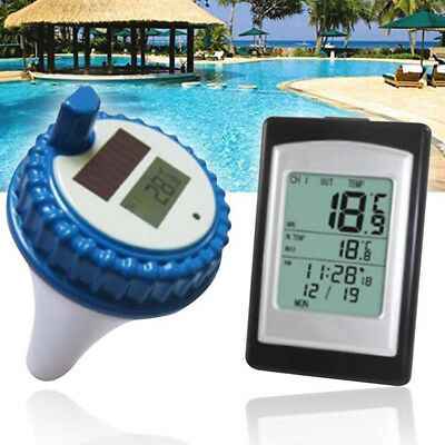 Wireless Solar Power Floating Pool Thermometer Digital