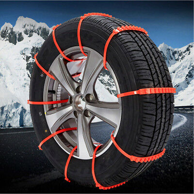 Car Tire Anti-skid Chains Thickened Beef Tendon Wheel Chain for Snow Mud Road UK