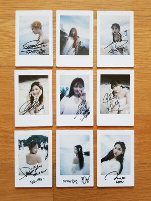 TWICE MONOGRAPH Summer Nights Official Polaroid Photocards Select Member