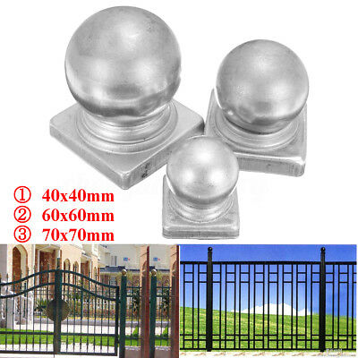 40/60/70mm Silver Metal Pyramid Square Epoxy Fence Gate Post Caps Ball Top Art