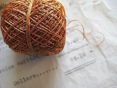 33 yds Vintage/Antique Copper Twist 3ply Metallic Thread Fly Tying Embroidery