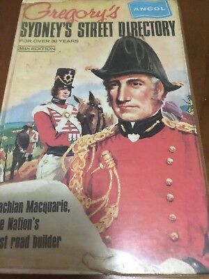 Gregory's  Hard Cover Sydney's Street Directory 36th  Edition July 1971