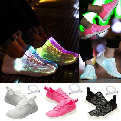 Frames Fiber Optic LED Light Up Shoes USB Rechargeable Flashing Fashion Sneaker
