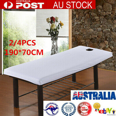2X  Elastic Bed Table Sheet Cover Salon Spa Couch Cotton Beauty Massage 190*70cm