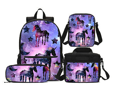 S//4 Harley Quinn Schoolbag Girls Backpack Insulated Lunch Bags Pencil Case LOT