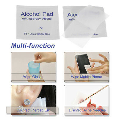100Pcs Alcohol Prep Pads Swabs Wipes Cleanser Portable First Aid Home Use X5O1