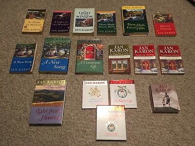 Jan Karon Mitford Series Books Lot of 16 Christmas, At Home, Canaan, More Bundle