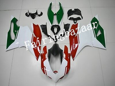 Fit for Ducati 899 Panigale 2012-2014 Green White Red ABS Injection Fairing Kit