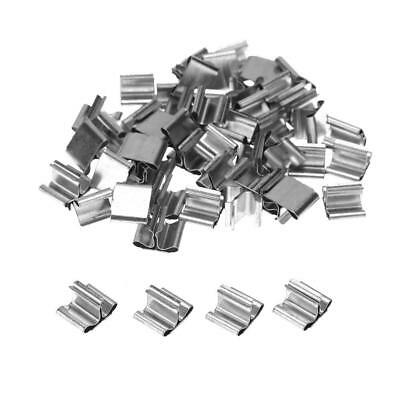 DIY 50Pcs Wood Candle Wicks Base Stand Iron Clip for Wax Candle Making Supplies