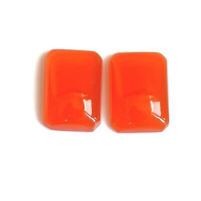 2 PIECE 17x12x5 MM A++ NATURAL RED ONYX MATCHED PAIR CABOCHON GEMSTONE OCTAGON