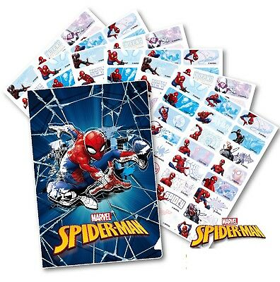 96 Spiderman Personalised Name Label Sticker Dishwasher Safe (30*13mm)