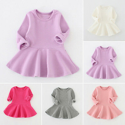 Newborn Baby Girls Dress Long Sleeve Princess Party Pageant Dresses Kids Clothes