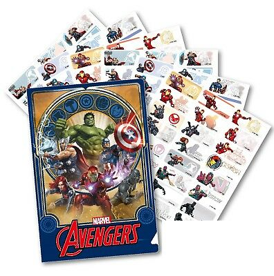 96 The Avengers Personalised Name Label Sticker Dishwasher Safe (30*13mm)