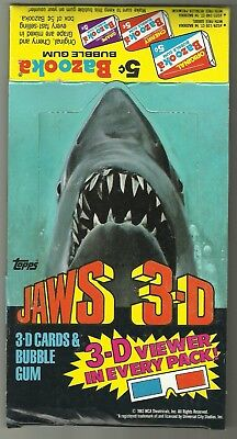 1983 Topps Jaws 3D Empty Box