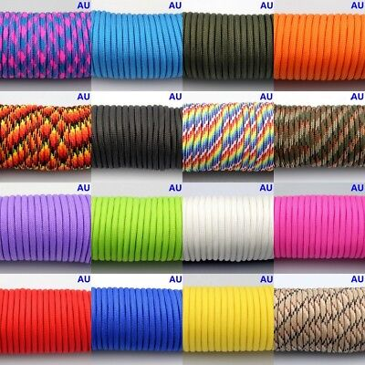 50-300FT 550 Paracord Parachute Cord Lanyard Mil Spec Type III 7 Strand Core