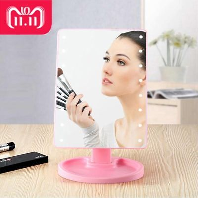 LED Touch Screen Mirror Rotating Professional Adjustable Countertop Vanity Light