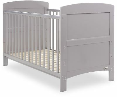 Obaby GRACE COT BED Baby Child Nursery Furniture Warm Grey BNIP