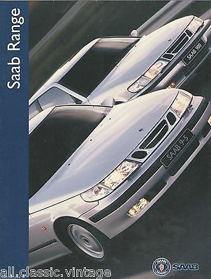 SAAB - Range 900/9000/9-5 brochure/folder Dutch 1998