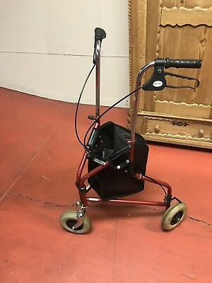 Foldable Medical Steerable Walker Aid Scooter Crutch