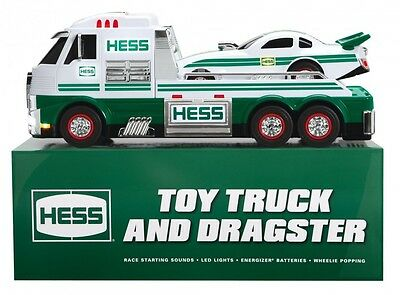 New 2016 Hess Toy Truck and Dragster, Free Shipping. New in Box.