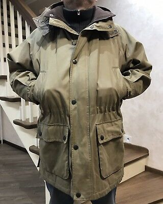 AUTH Barbour Mens WAX Parka Jacket Waxed T365 Size XL