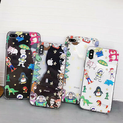 3D Cute Toy Story Disney Phone Case Clear Cover For iPhone XR Xs Max 8 7 6s Plus