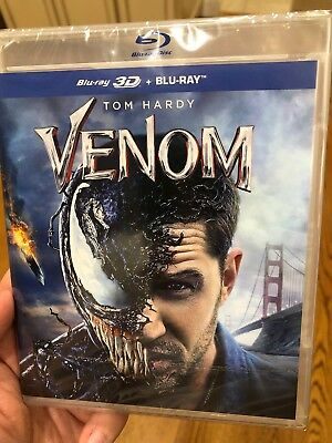 VENOM 3D + 2D Blu-Ray Pre-Order SHIPS BY 2/5 - Ships from US Trusted Seller