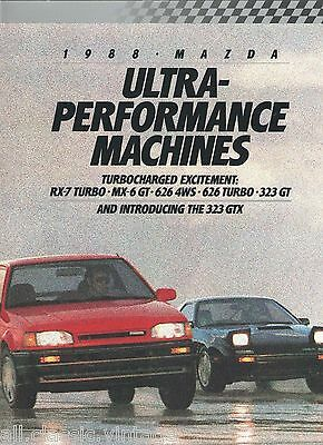 MAZDA - RX-7 Turbo/MX-6 GT/626 4WS/626 Turbo/323 GT/323 GTX full brochure/folder