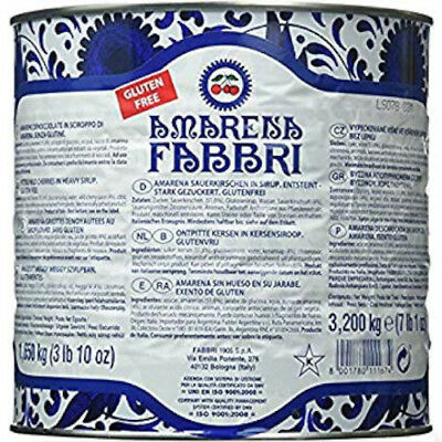 Amarena Fabbri Wild Cherries in Heavy Syrup - 7 lbs