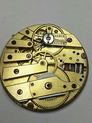 Early High Grade Patek Philippe Cylinder Pocket Watch Movement For Repair