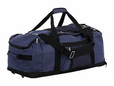 Black Blue Extra Large Backpack Duffel Holdall Bag SPORTS TRAVEL Hiking Camping