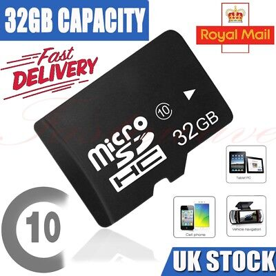 32GB Micro SD SDHC Memory Card for Mobile Phones Tablets Cameras Dashcam UK NEW