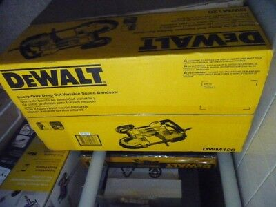 DeWalt DWM120 Heavy-Duty Variable Speed Deep Cut Portable Band Saw New