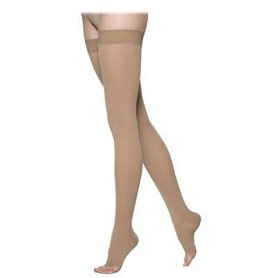 Sigvaris 863 Select Comfort Open Toe Thigh Highs w/Grip Top - 30-40 mmHg Short
