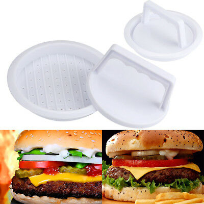 2017 Plastic Patty Press Form Hamburger Mold Maker Round Meat Mince BBQ Family