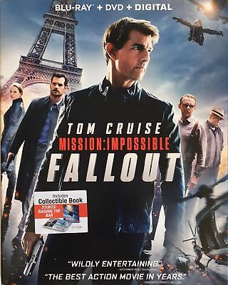 Mission: Impossible - Fallout (Blu-ray + DVD + Digital, 2018, w/Slipcover) NEW!