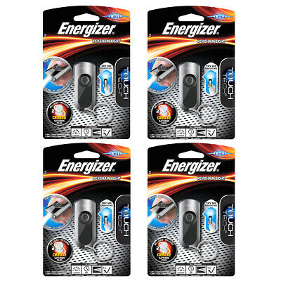 4 x Energizer Touch Tech LED Keychain Key Ring Torch Flashlight Batteries inc
