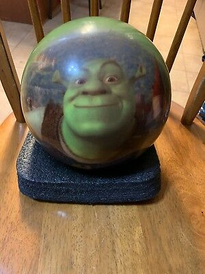 Dreamworks Youth/Young Adult Shrek Bowling Ball Green Drilled With Holes 10.5lbs