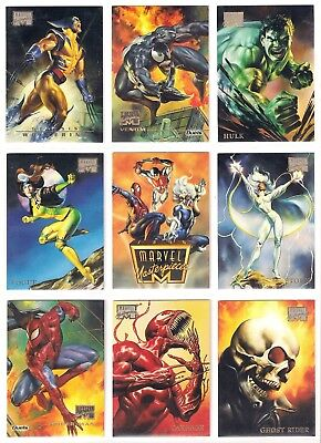 1996 Marvel Masterpieces  Nm/mt Set (100) - Rare !!