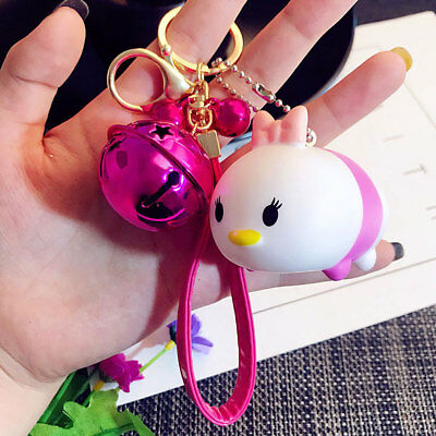 Cartoon Pink Plastic Key Chain Car Key Ring Strap Bag Pendant Gift Duck Doll