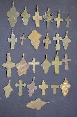 Metal detector finds.Mix lot  ancient crosses (The age of 17-19) N51