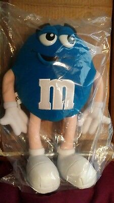 "Blue M&M Plush poseable 15"" tall"