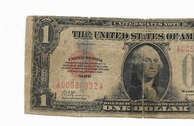 "$1 ""red Seal"" (United States Note) 1928 $1 ""red Sealed""(United States Note) 1928"
